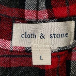 cloth & stone Tops - Cloth and Stone Delancey Plaid Tunic